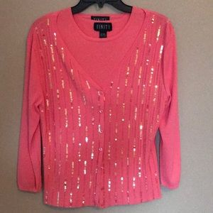 Tops - Cardigan with separate tank top.